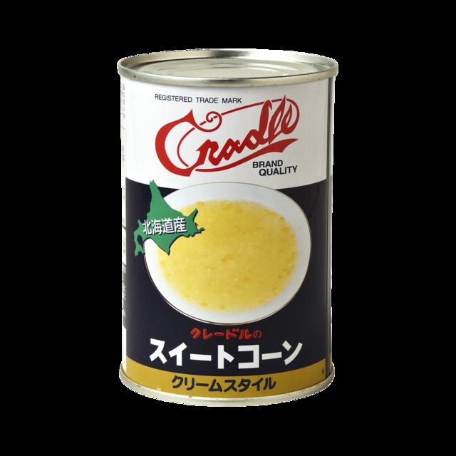 缶 クリーム コーン